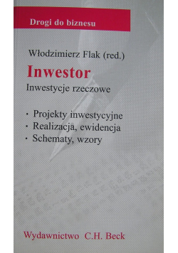 Inwestor Inwestycje rzeczowe
