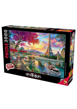 Puzzle 3000 Paryż, Kawiarnia nad Sekwaną