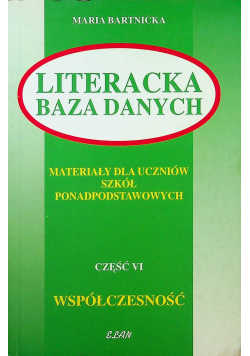 Literacka baza danych cz VI