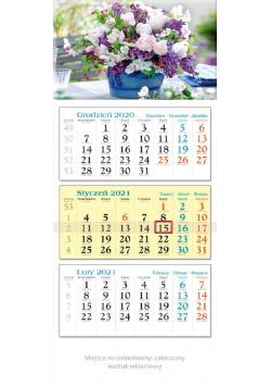 Kalendarz 2021 trójdzielny KT 11 Bukiet