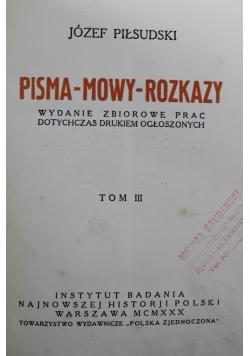 Pisma mowy rozkazy Tom 3 1930 r