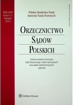 Orzecznictwo Sądów Polskich Rok LXIII Zeszyt 11