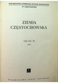 Ziemia Częstochowska tom VIII  i IX