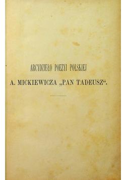 Pan Tadeusz Studyum Krytyczne 1894 r.