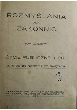 Rozmyślenia dla zakonnic Tom 4 1929 r.