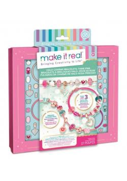 Zestaw do tworzenia bransoletek Halo Charms Pink