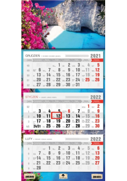 Kalendarz 2022 trójdzielny Zakinthos