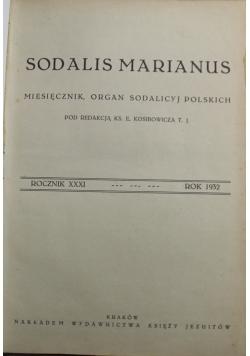 Miesiecznik Sodalis Marianus rocznik XXXI i XXXII 1933 r.