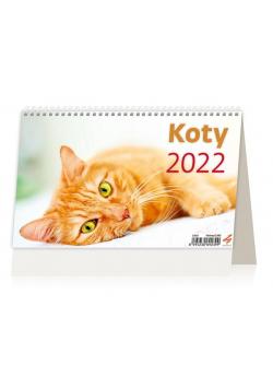 Kalendarz 2022 biurkowy Koty HELMA