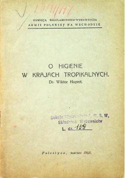O higienie w krajach tropikalnych 1943 r