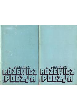 Tadeusz Różewicz Poezja Tom I i II