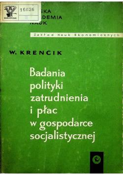 Badania polityki zatrudnienia i płac w gospodarce socjalistycznej