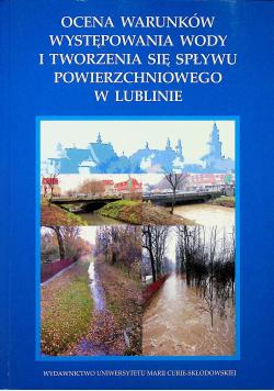 Ocena warunków występowania wody i tworzenia się spływu powierzchniowego w Lublinie