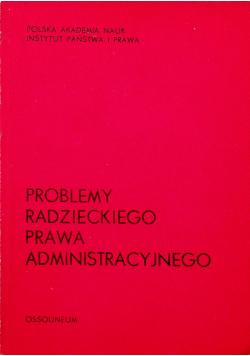 Problemy radzieckiego prawa administracyjnego