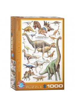 Puzzle 1000 Dinozaury z okresu Jurajskiego