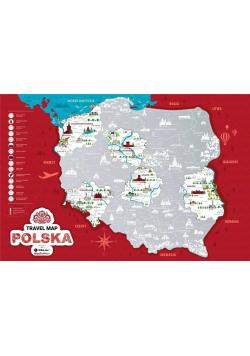 Mapa zdrapka - Travel Map Polska