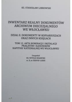 Inwentarz realny dokumentów archiwum diecezjalnego we Włocławku