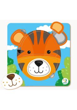 Puzzle 5 mini Tygrys