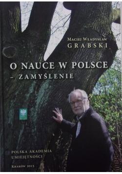 O nauce w Polsce zamyślenie