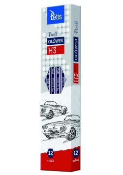 Ołówek PIXELL heksag.twar.H3 12szt. KV060-H3