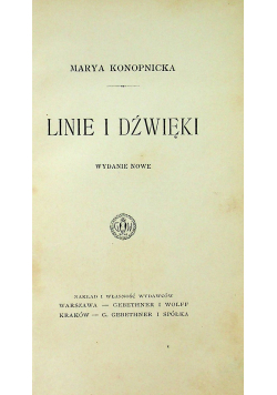 Linie i dźwięki  1911 r