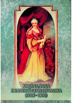 Księżna Anna z Sapiehów Jabłonowska 1728 1800