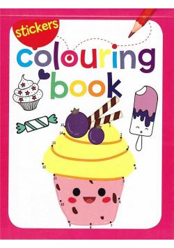 Colouring book z naklejkami. Lody