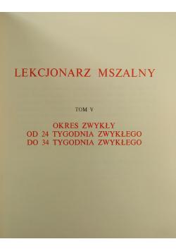 Lekcjonarz Mszalny Tom V