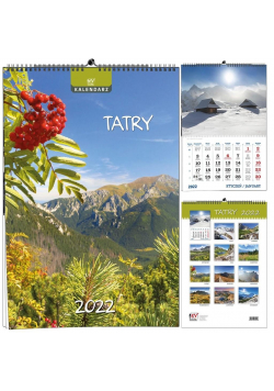 Kalendarz 2022 B3 7 plansz Tatry