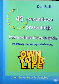 45 sekundowa prezentacja która odmieni twoje życie