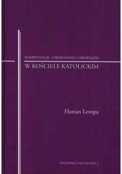 Kompetencje uprawnienia i obowiązki w kościele katolickim