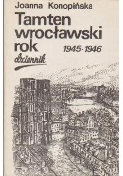Tamten wrocławski rok dziennik