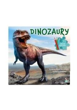 Donozaury. Książeczka z puzzlami i kolorowankami