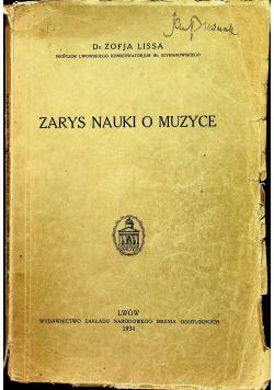 Zarys nauki o muzyce 1934 r