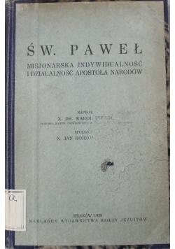 Św Paweł Misjonarska indywidualność i działalność Apostoła Narodów 1929 r