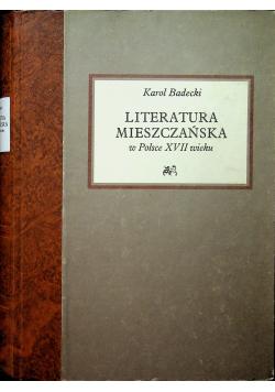 Literatura mieszczańska w Polsce XVII wieku Reprint z 1925 r.