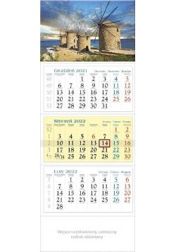 Kalendarz 2022 trójdzielny KT 07 Wiatraki
