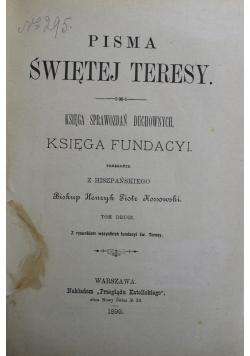 Pisma Świętej Teresy Tom II 1899 r.