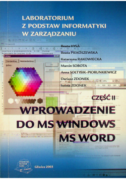 Wprowadzenie do Ms Windows ms word