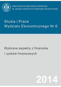Studia i prace wydziału ekonomicznego nr 6