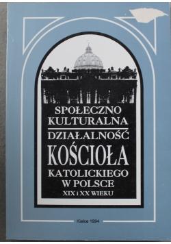 Społeczno kulturalna działalność kościoła
