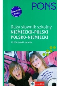 Duży słownik szkolny niemiecko polski