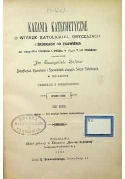 Kazania katechetyczne Tom II 1903  r.
