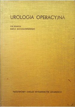 Urologia operacyjna