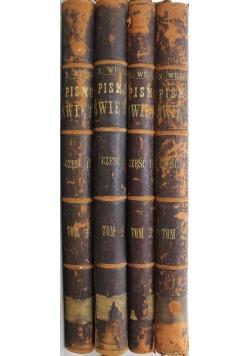 Pismo Święte w przekładzie Jakóba Wujka 2 tomy  w 4 książkach  1873 r.