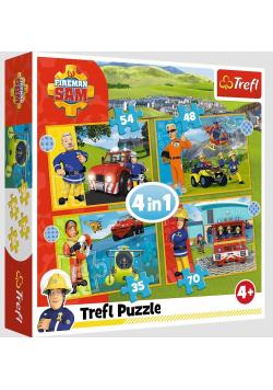 Puzzle 4w1 Odważny Strażak Sam TREFL