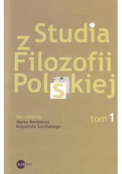 Studia z filozofii Polskiej Tom 1