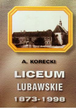 Liceum lubawskie 1873 1998
