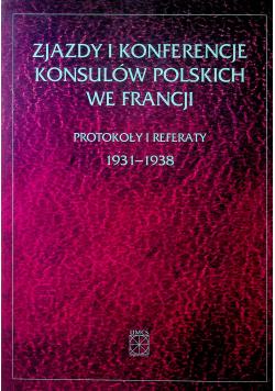 Zjazdy i konferencje konsulów polskich we Francji  plus autograf Chałupczaka