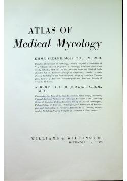 Atlas of Medical Mycology